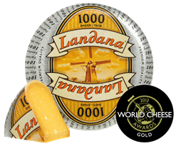 Landana 1000 DAYS gold award world cheese awards