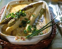 Scalloped asparagus