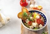 Leek–lentil salad with goat cheese