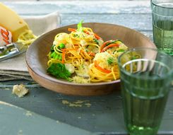 Country-style vegetarian spaghetti