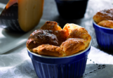 Cheese soufflé with banana