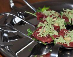 Appetizer of beef tenderloin
